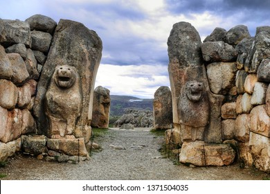 The Lion Gate in the south west of Hattusa, also known as Hattusha, is an ancient city located near modern Bogazkale in the Corum Province of Turkey's Black Sea Region.