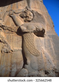 Lion hunting scene , Persepolis, Iran, Middle East