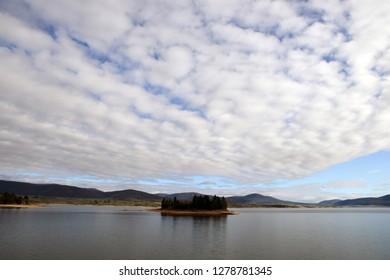 Lion Island  Lake Jindabyne NSW Australia.