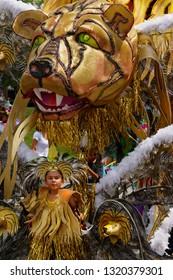 Lion King of the Band at the Junior Caribana Parade in Toronto, Ontario, Canada - July 19, 2008