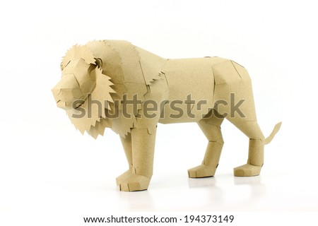 b5b7531049e9 Lion made recycled paper stock photo edit now jpg 450x320 Recycled lion