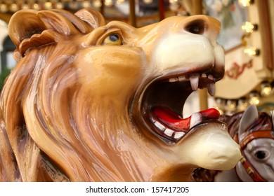 lion on a carousel