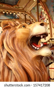 lion on a carousel