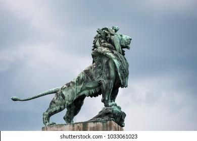 Lion Sculpture, Otto Wagner, Nussdorf Weir, Vienna
