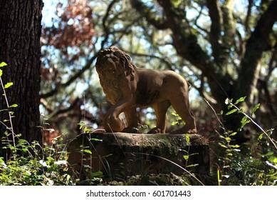 Lion Statue on Cumberland Island, Ga.