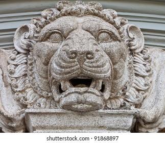 Lion Statue in Wat Phra Kaew (Temple of the Emerald Buddha)
