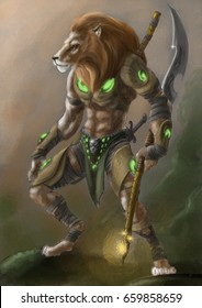 Lion warrior - Concept Art