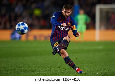 Lionel Messi of Barcelona during the match between FC Barcelona and Tottenham Hotspurs at Camp Nou Stadium in Barcelona, Spain on December 11, 2018.