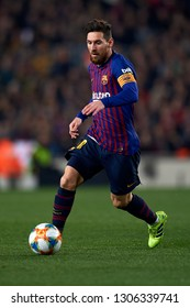 Lionel Messi of Barcelona during the Spanish Cup (King's cup), first leg semi-final match between FC Barcelona and  Real Madrid at Camp Nou stadium on February 6, 2019 in Barcelona, Spain.