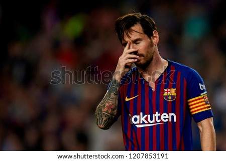 Lionel Messi celebrates after scoring his sides first goal during the week  9 of La Liga b673f76ac35ff