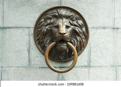 Lionhead old door knocker