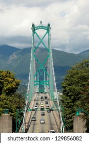 Lions Gate Bridge connecting West Vancouver to North Vancouver