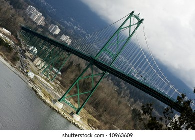 The Lions Gate Bridge in Vancouver