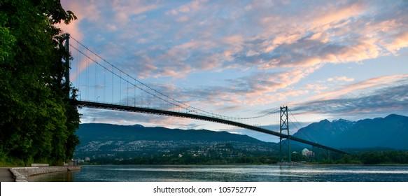 The Lions Gate Bridge in Vancouver, British Columbia.
