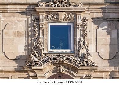 Lions' Gate at the Royal Palace (Buda Castle). Castle Hill District (Varhegy), Buda, Budapest, Hungary.