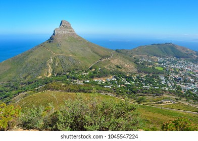 Lion's head and foothill of Table Mountain, Cape Town, South Africa