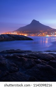 Lion's Head mountain. View from Camps Bay Beach. Cape Town