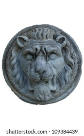 Lions head on doorway.