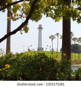 Lions Lighthouse in Aquatic Park, Long Beach, California