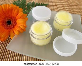 Lip balm with honey