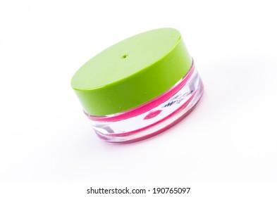 Lip balm on isolated white background