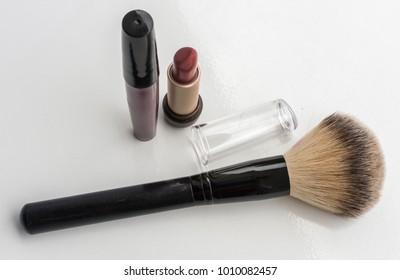 Lip gloss and makeup Brush Photo Studio