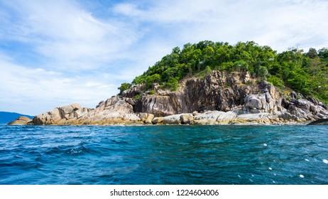 Lipe island ,Santun province,Thailand,The beautiful blue ocean,island,mountains