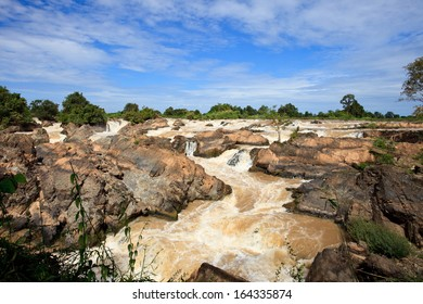 liphi water fall or mekong river in champasak southern of laos one of destination in south east asia