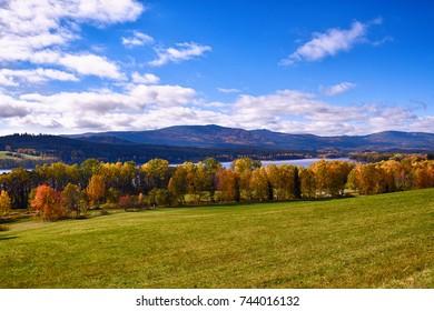 Lipno pond landscape
