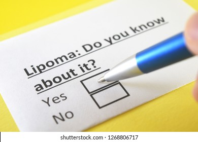 Lipoma: do you know about it? yes or no
