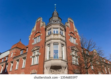 LIPPSTADT, GERMANY - MARCH 22, 2019: Facade of the historic post office building in Lippstadt, Germany