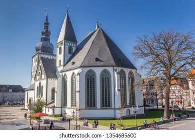 LIPPSTADT, GERMANY - MARCH 22, 2019: Great Marien church at the market square in Lippstadt, Germany