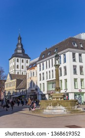 LIPPSTADT, GERMANY - MARCH 22, 2019: Statue in a shopping street in Lippstadt, Germany