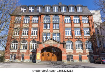 LIPPSTADT, GERMANY - MARCH 22, 2019: Historic school building in the center of Lippstadt, Gemany