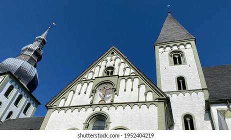 Lippstadt, NRW, Germany- 03.31.2021: Marienkirche in the downtown of Lippstadt in the Soest district