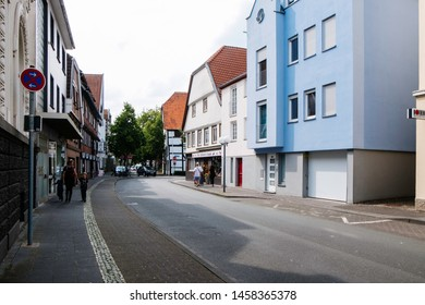 Lippstadt/Germany - July 2019: City Center of Lippstadt in Germany