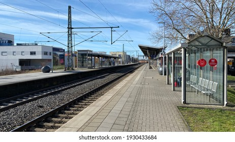Lippstadt,NRW,Germany - 03.06.2021: Train station of Lippstadt city.