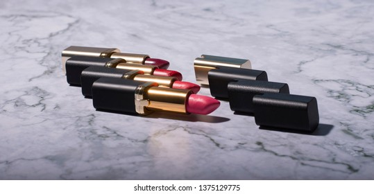 lipstick with different kolors  - Shutterstock ID 1375129775