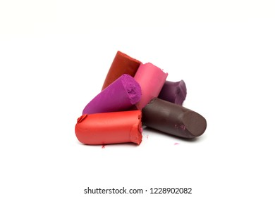 lipstick on the white background