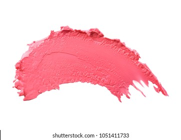 Lipstick on white background. Professional makeup products