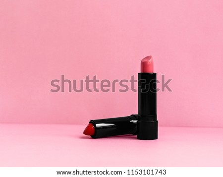 lipstick photo template two tubes lipstick stock photo edit now