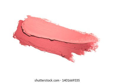 Lipstick pink white isolated background