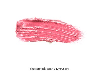 Lipstick smear isolated on white background. Makeup products