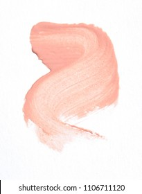 Lipstick. Smears on a white background.