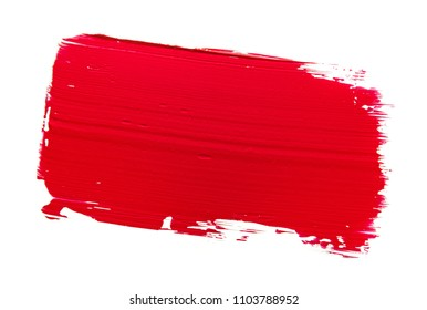 Lipstick smudge isolated on black background