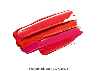 Lipstick smudge white background isolated