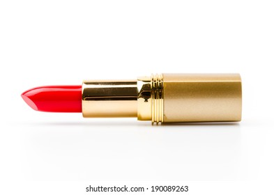 lipsticks isolated white background