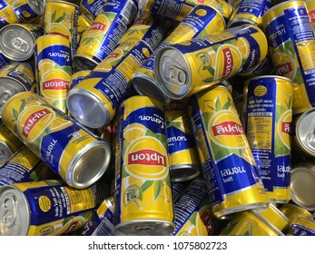 Lipton lce Tea - Lemon, 320ml cans, produced by Suntory PepsiCo Beverages (Thailand) CO., LTD.