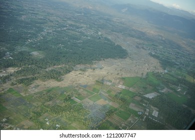 Liquefaction of Petobo Viewed From Hercules Plane due to earthquake in Palu on 28 September 2018