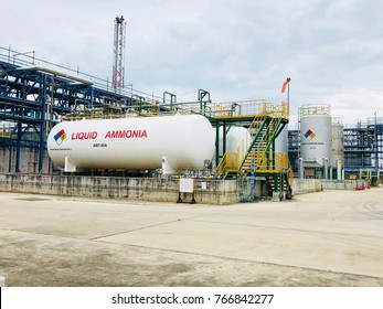 Liquid ammonia storage Used in food production.